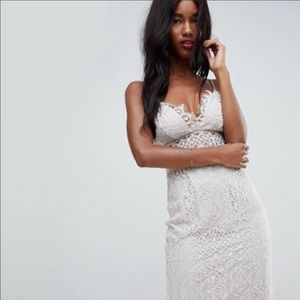 {ASOS} lace overlay pencil dress NWT